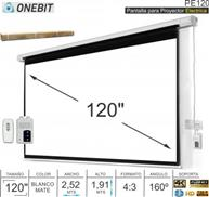 PANTALLA PROYECTOR PARED 120` ELECTRICA ONEBIT